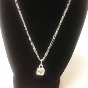 Holsted Jewelers White CZ Pendant Necklace